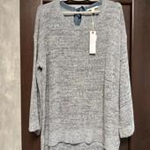 Фирменный новый красивый свитер-туничка с удлиненной спинкой р.18-22