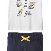 Комплект для девочки футболка + шорты от Lupilu Германия р.110/116