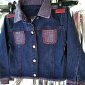 джинсовый летний пиджак куртка ✓✓✓ okaïdi