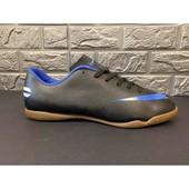 Мужские футзалки копия Nike размер 45 кожзам стелька 28