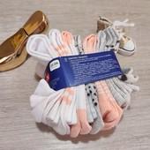 Германия!!! Лот из 7 коттоновых носочков нежной расцветки для девочки! 23-26 размер!
