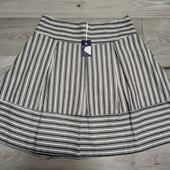 Фирменная новая красивая коттоновая юбка в полоску р.16-18.