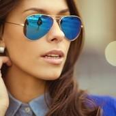 ❤️C&A Германия❤️фирменные солнцезащитные зеркальные очки в стиле Aviator высокая защита UV унисекс