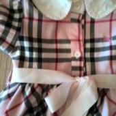 Платье Burberry 3-4года на рост от 98 до 110см