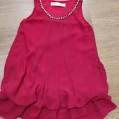 Фирменное яркое шифоновое платье на 4-6 лет
