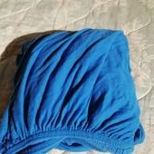 Простынь на резинке 100 коттон 160 см на 210 см