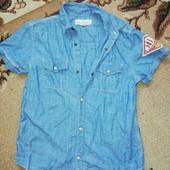 Джинсовая рубашка мальчику 152рост