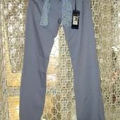 Серо-голубые летние брюки с тканевым поясом Silvian Heach р.27
