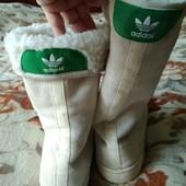 зимние сапоги Adidas, р 40,5