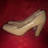 Туфли нюдовые TU 38 размер, стелька 24 см.