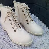 Женские белые ботинки на шнуровке H&M
