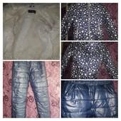 Зимний теплый раздельный комбинезон, куртка для девочки.