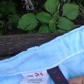 Штани летние голубые