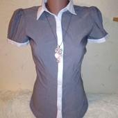 Классная рубашка в полоску 4/34 размера.