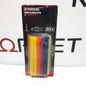 Клеевые стержни цветные Ø 7 мм Parkside 3 В 2 (набор 20 шт.), , разноцветный