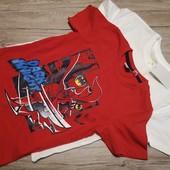 Германия! Коттоновые футболки на мальчика, 122-128 см, 2 шт.