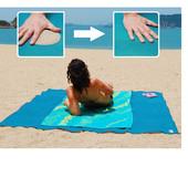 Пляжная подстилка 150x200 анти-песок Sand Free Mat, пляжный коврик, коврик для