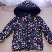 Куртка цветочный принт. Еврозима.