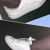 Белые кроссовки Puma, ориг. Камбоджа, разм. 38 (24 см по бирке). Сост. хорошее!