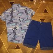 Стоп! Шикарный комплект на пляж: Шорты и рубашка