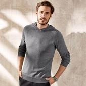 Мужской пуловер с капюшоном 30% кашемир Livergy XL