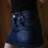 Очень крутая джинсовая мини-юбка