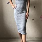 Стильное миди платье, размер S