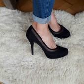 класичні чорні туфлі  x red Emilio luca