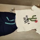 Распродажа! Германия!!! Лот из суперовой коттоновой футболки 98/104 и бермудов 98!