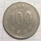 Корея 100 вон 1991