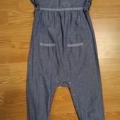 Ромпер из тонкой джинсовой ткани 12-18 мес.