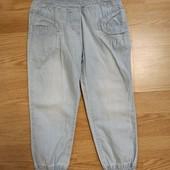 Летние коттоновые штаны из джинсовой ткани.