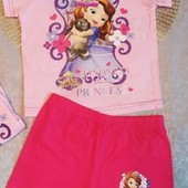 Яркая пижама для девочки Disney Англия 3-4 года