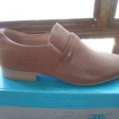 Стильные летние мужские туфли фирма Clowse. искусственный нубук.