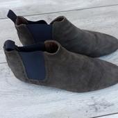River island мужские замшевые туфли ботинки челски замша