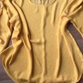 Блуза желтого цвета в горошек большого размера