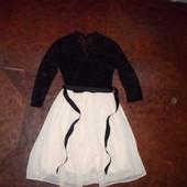 Роскошное нарядное бренд.платье New Look,шифон,Гипюр,Англия,легкое,S