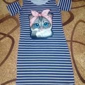 Крутецкое платье для девочки р.134