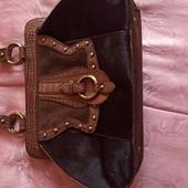Модная фирменная сумка tosca blu из натурального меха