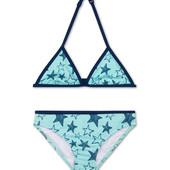 Яркий красивый бирюзовый купальник C&A звезды, р.170/176