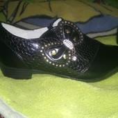 Новые! Красивые туфельки для девочки 36 размер