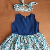 Платье + повязка на 5-6 месяцев