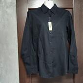 Фирменная новая коттоновая женская рубашка р.14 классический черный