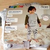Чудовий тепленький костюмчик на флісі, розмір 74/80, бренд lupilu Геpманія, в упаковці
