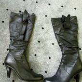 сапоги кожаные, демисезонные
