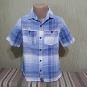 Фирменная рубашка Next (Некст), на 5-6 лет рост 116см, на 5+, качественная, мерки есть