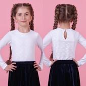 Школьная блуза с длинным рукавом Zironka 116, 128, 134, 152 супер качество!!!!