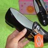 Фирменные туфельки для девочки. Стелька - кожа, супинатор! Размер 33, 34