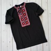 Качественная трикотажная вышиванка футболка для мальчика подростка