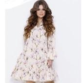 Платье свободное, рюши оборки, можно беременным от Issa plus в цветы, романтичное, воздушное легкое